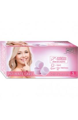 HOT INTIMATE CARE SOFT TAMPONES 5 UDS - Imagen 1