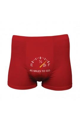 FUNNY BOXERS 45 MILES TO GO ROJO - Imagen 1
