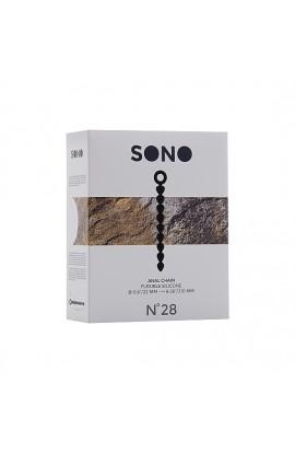 SONO N 28 BOLAS ANALES SILICONA NEGRO - Imagen 1