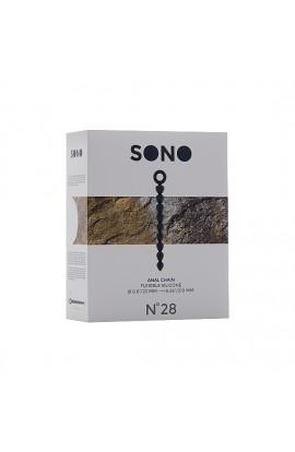 SONO N 28 BOLAS ANALES SILICONA GRIS - Imagen 1