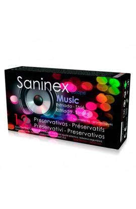 SANINEX MUSIC ESTRIADO AROMATICO FRUTAL 12 UDS - Imagen 1