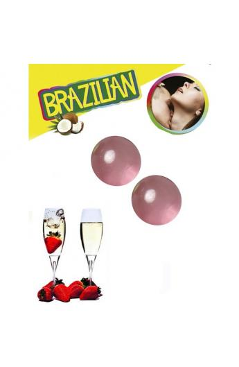 SET 2 BRAZILIAN BALLS AROMA FRESA CAVA - Imagen 1