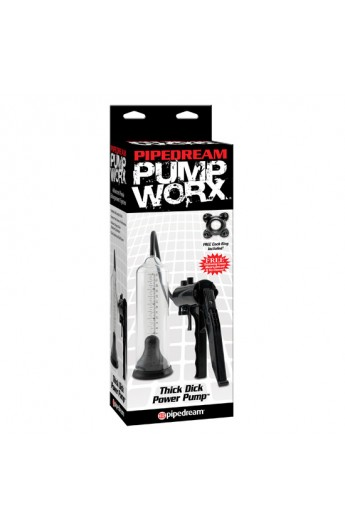 PUMP WORX BOMBA DE ERECCION THICK DICK - Imagen 1
