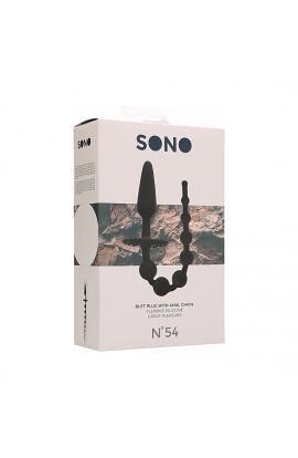 SONO NO. 54 - PLUG CON BOLAS ANALES - NEGRO - Imagen 1