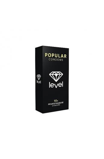 PRESERVATIVOS LEVEL POPULAR CONDOMS - 10UDS - Imagen 1