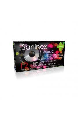 SANINEX PRESERVATIVOS MUSIC PUNTEADOS 12UDS - Imagen 1