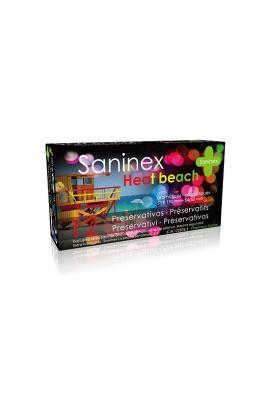 SANINEX PRESERVATIVOS HEAT BEACH 12UDS - Imagen 1