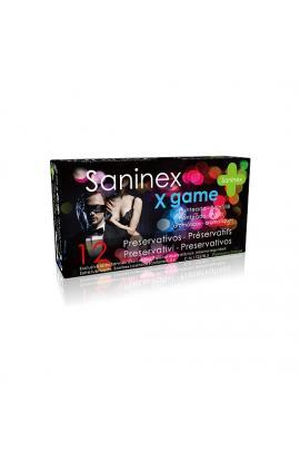 SANINEX PRESERVATIVOS X GAME PUNTEADO 12UDS - Imagen 1