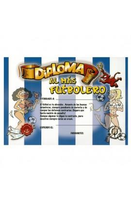 DIPLOMA AL FUTBOLERO BLANQUI-AZUL - Imagen 1
