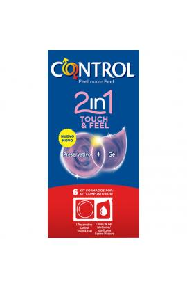 PRESERVATIVOS CONTROL 2IN1 TOUCH & FEEL + LUBE 6UDS - Imagen 1