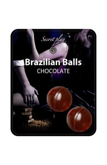 SECRET PLAY SET 2 BRAZILIAN BALLS AROMA CHOCOLATE - Imagen 1