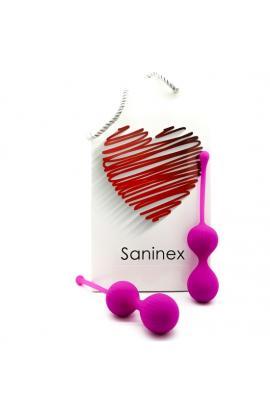 SANINEX DOUBLE CLEVER - INTELIGENTES ESFERAS VAGINALES MORADO - Imagen 1
