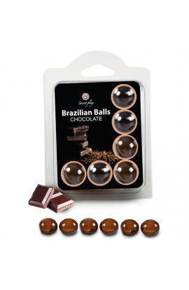 SET 6 BRAZILIAN BALLS CHOCOLATE - Imagen 1