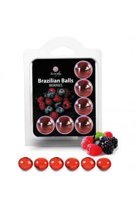 SET 6 BRAZILIAN BALLS FRUTAS DEL BOSQUE - Imagen 1