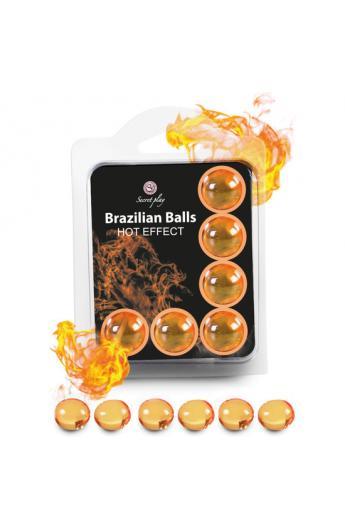 SECRET PLAY SET 6 BRAZILIAN BALLS EFECTO CALOR - Imagen 1