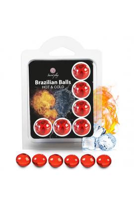 SECRET PLAY SET 6 BRAZILIAN BALLS EFECTO HOT & COLD - Imagen 1