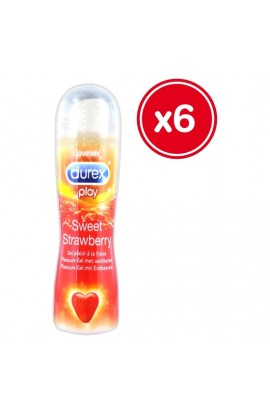 DUREX PLAY SWEET STRAWBERRY 50 ML (6 UDS) - Imagen 1